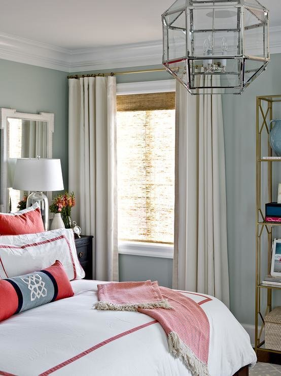 Best Red And Taupe Bedroom Transitional Bedroom With Pictures