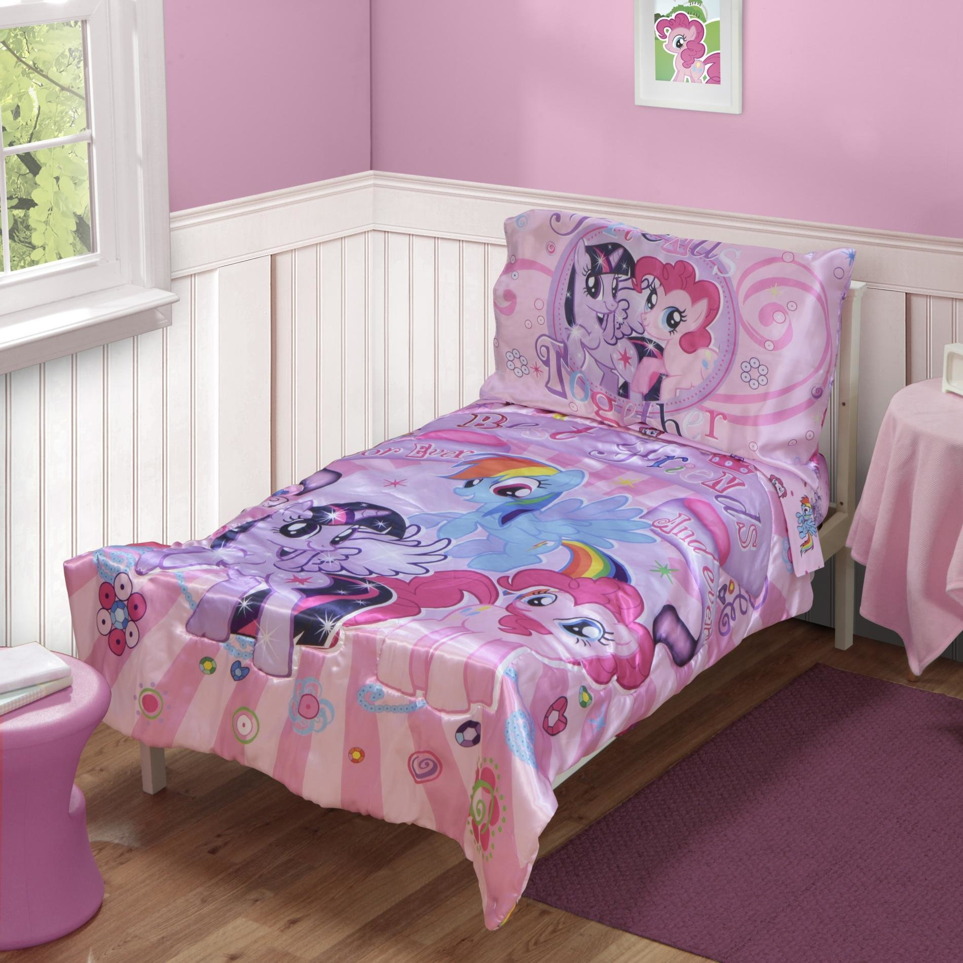 Best My Little Pony 4 Piece Toddler Girl S Bed Set With Pictures