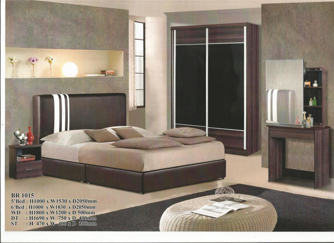 Best Bedroom Set Murah Leancy Stock With Pictures
