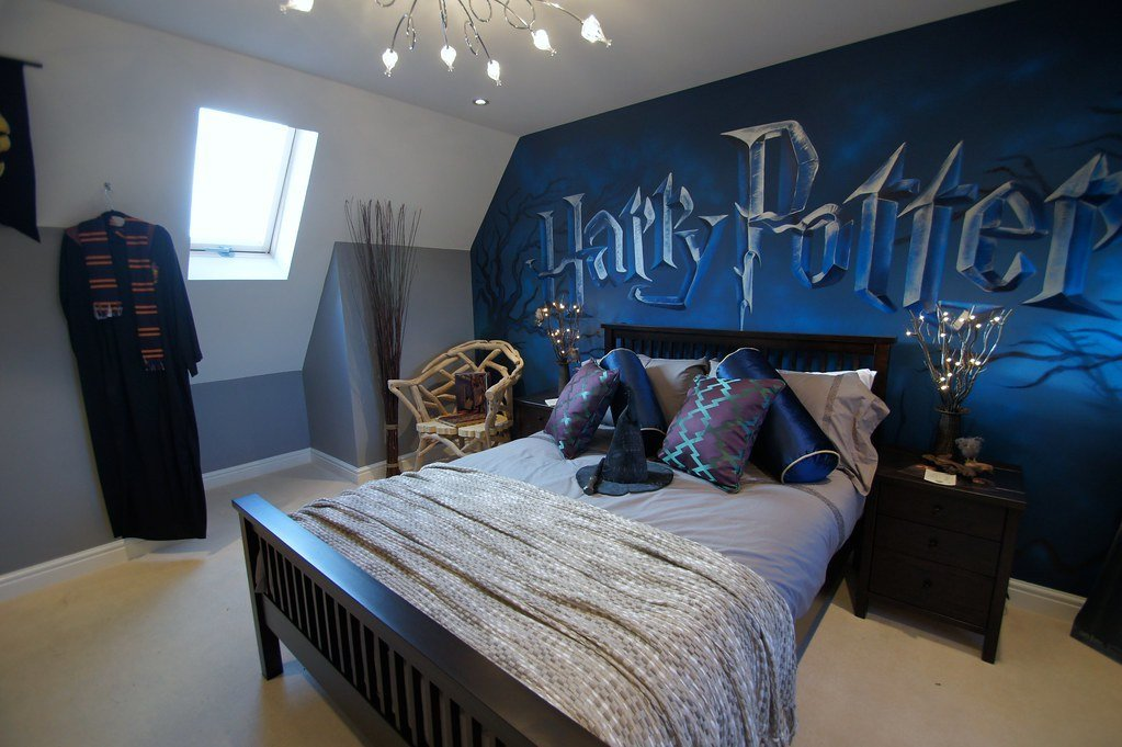 Best Harry Potter Mural Room Children S Mural Room Based On With Pictures