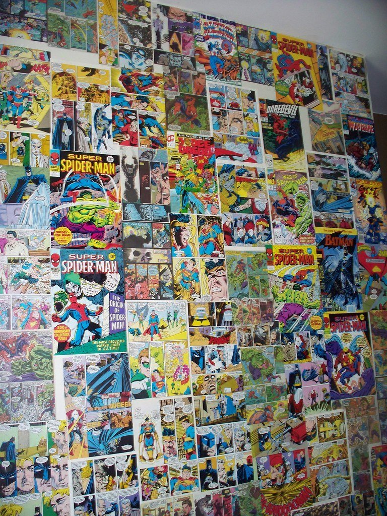 Best Comic Wallpaper My Son Wanted A Superhero Bedroom So With Pictures