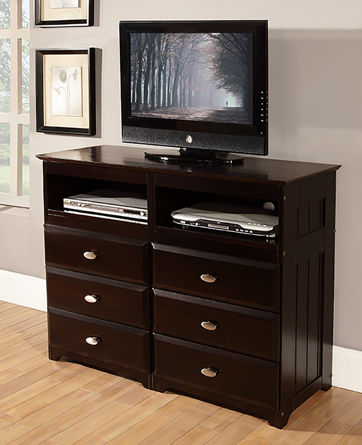 Best Discovery World Furniture Espresso Media Chest – Kfs Stores With Pictures