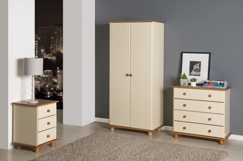 Best Sol Cream Antique Pine Trio Bedroom Set One Stop Furniture Shop With Pictures