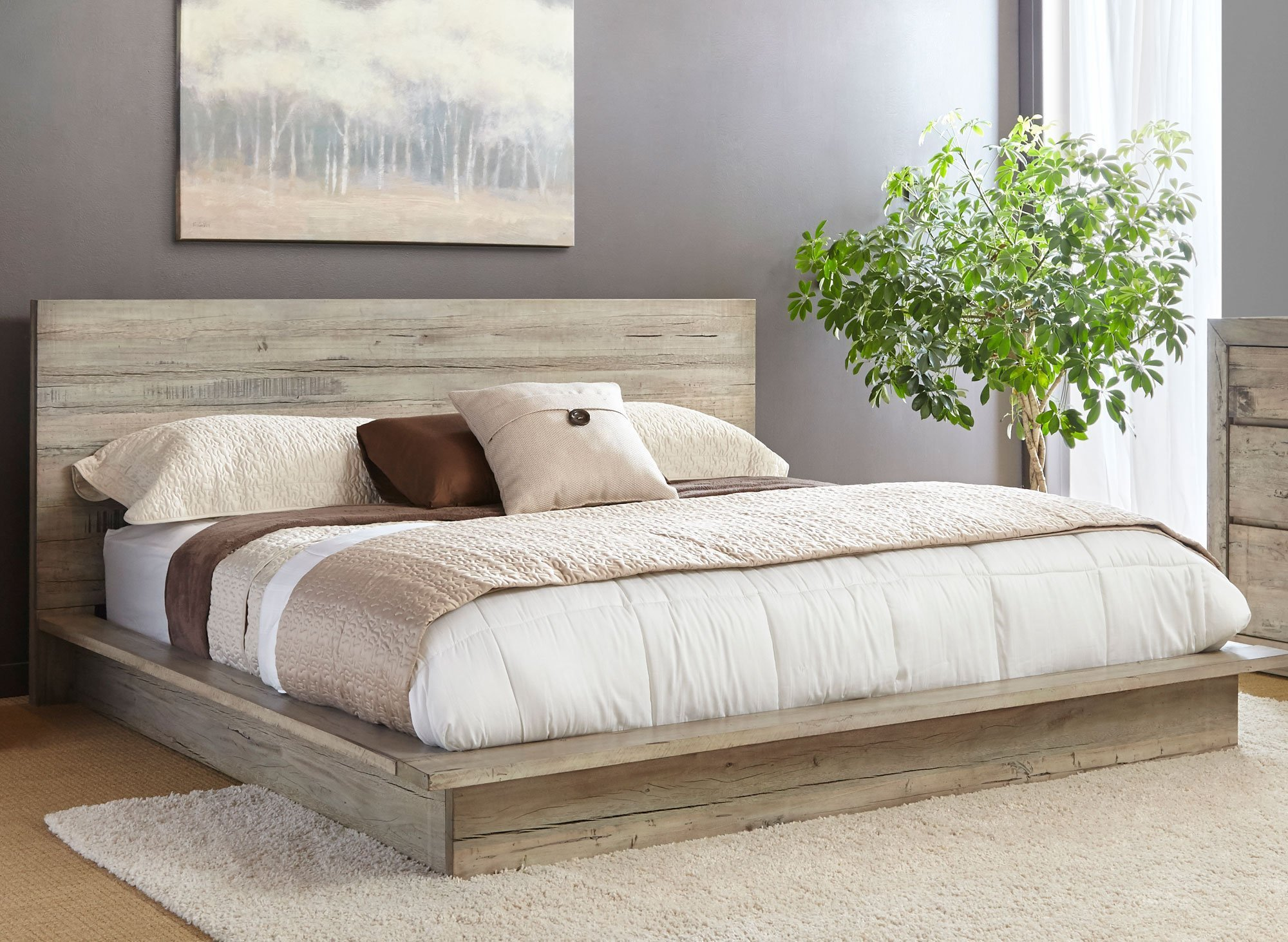 Best White Washed Modern Rustic 6 Piece King Bedroom Set With Pictures