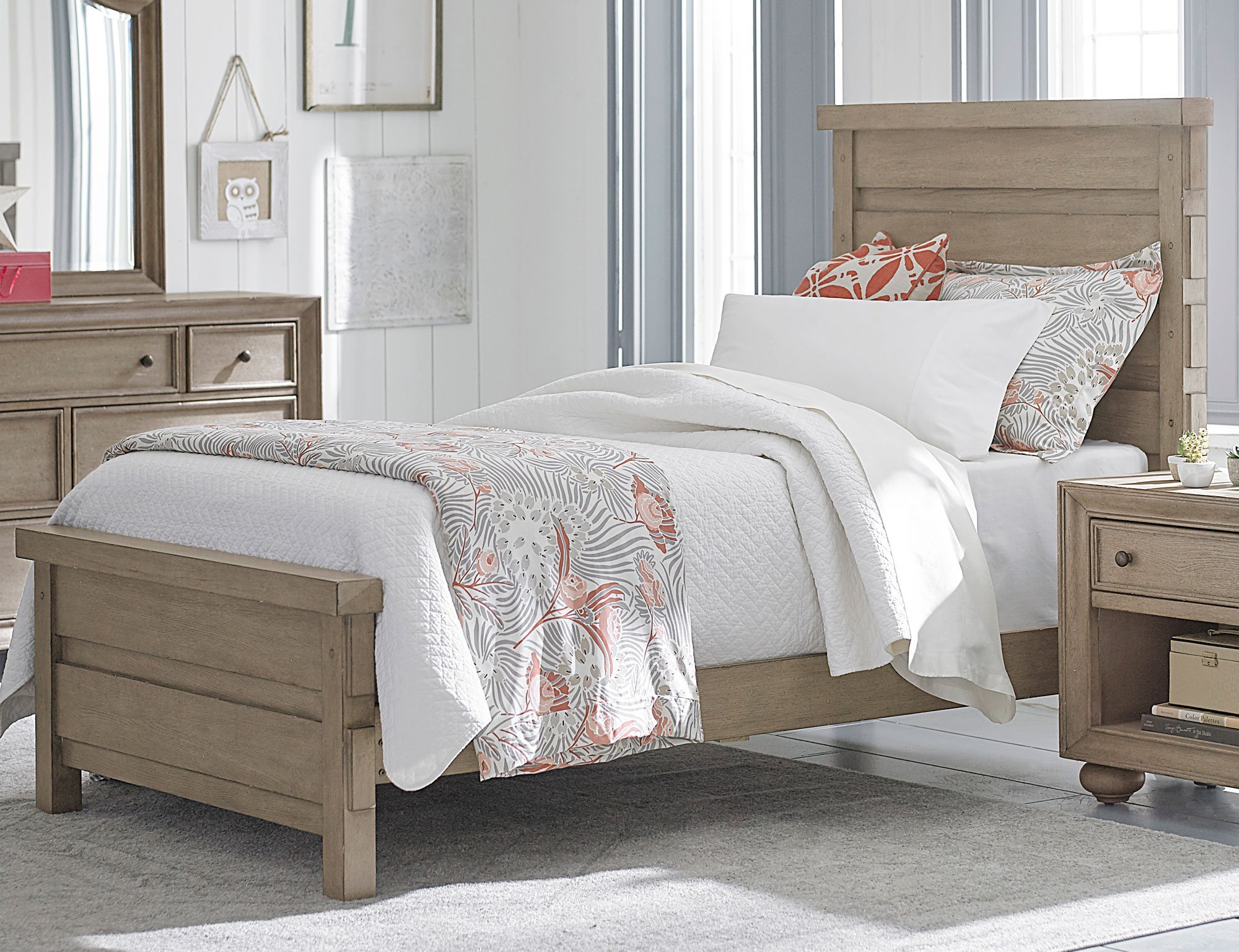 Best Classic Weathered Gray 6 Piece Twin Bedroom Set Heather With Pictures