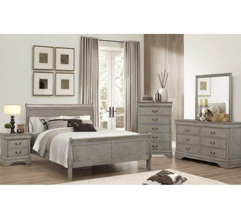 Best Lafayette Gray Queen Size Bedroom Set With Pictures