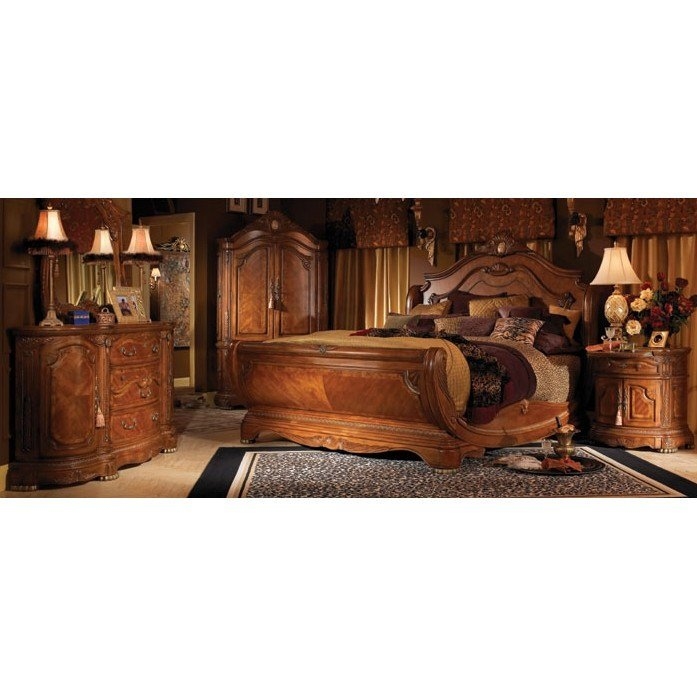 Best Michael Amini Cortina Sleigh Customizable Bedroom Set With Pictures