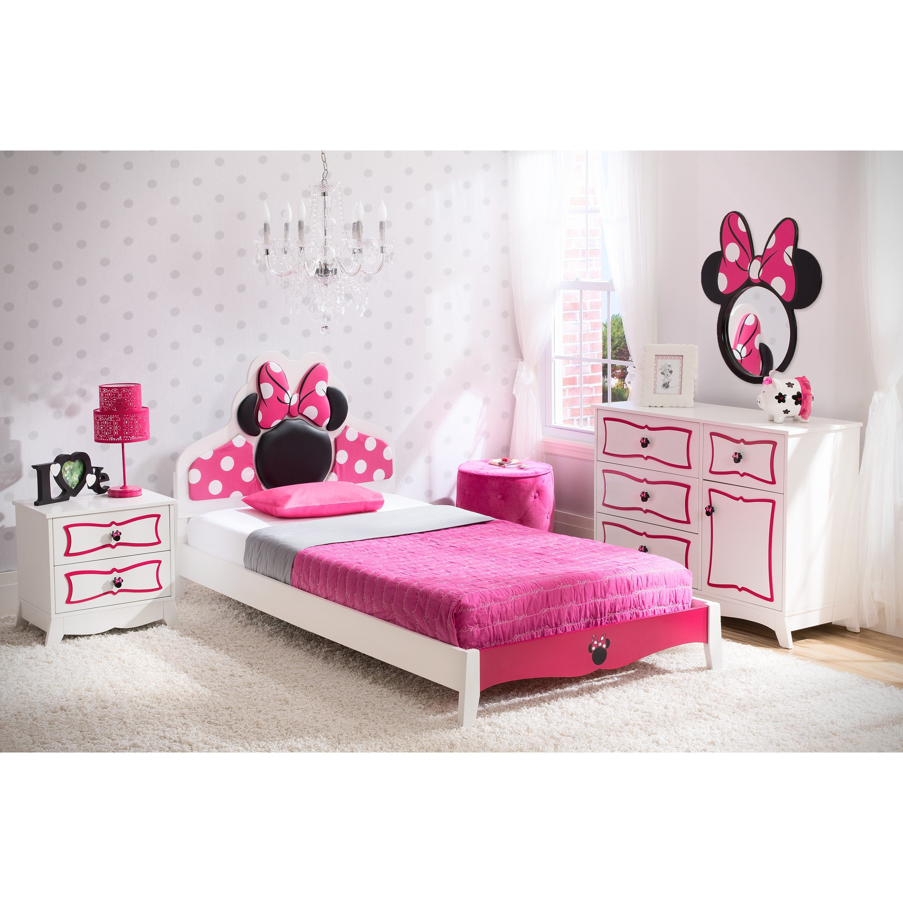 Best Delta Children Disney Minnie Mouse Panel 4 Piece Bedroom With Pictures