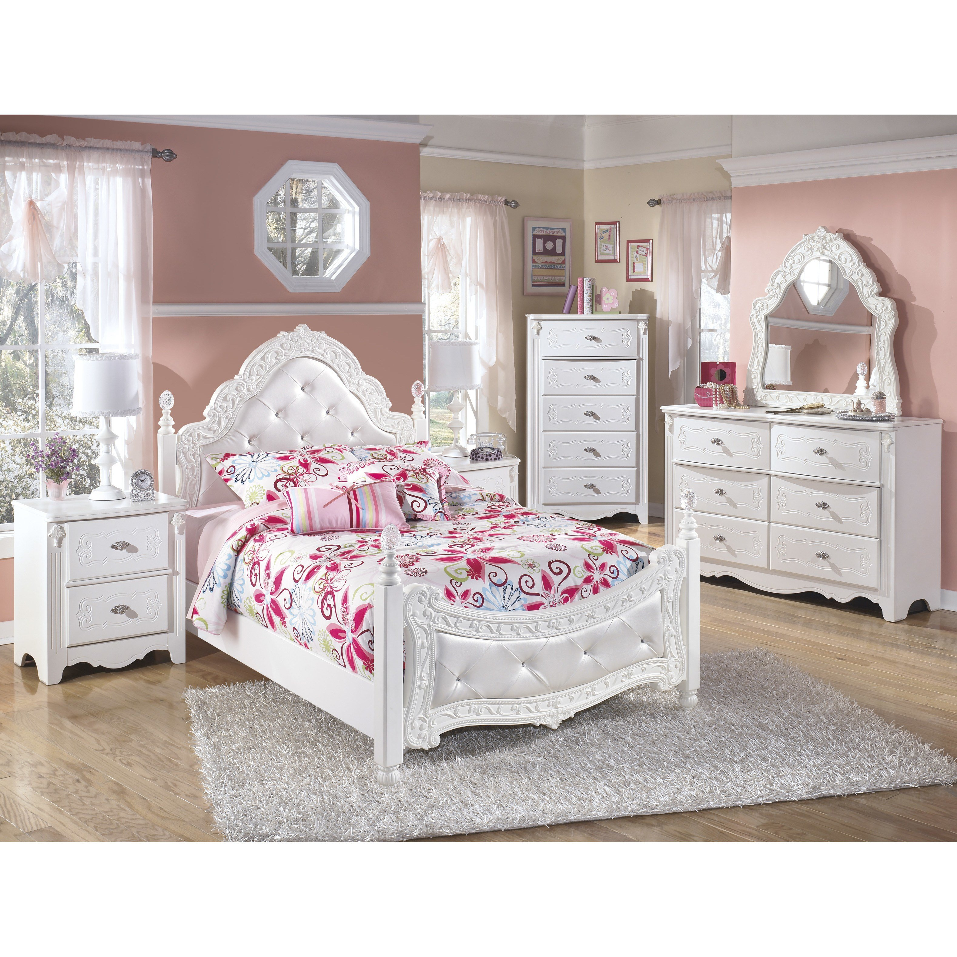 Best Signature Design By Ashley Exquisite Four Poster Customizable Bedroom Set Reviews Wayfair With Pictures
