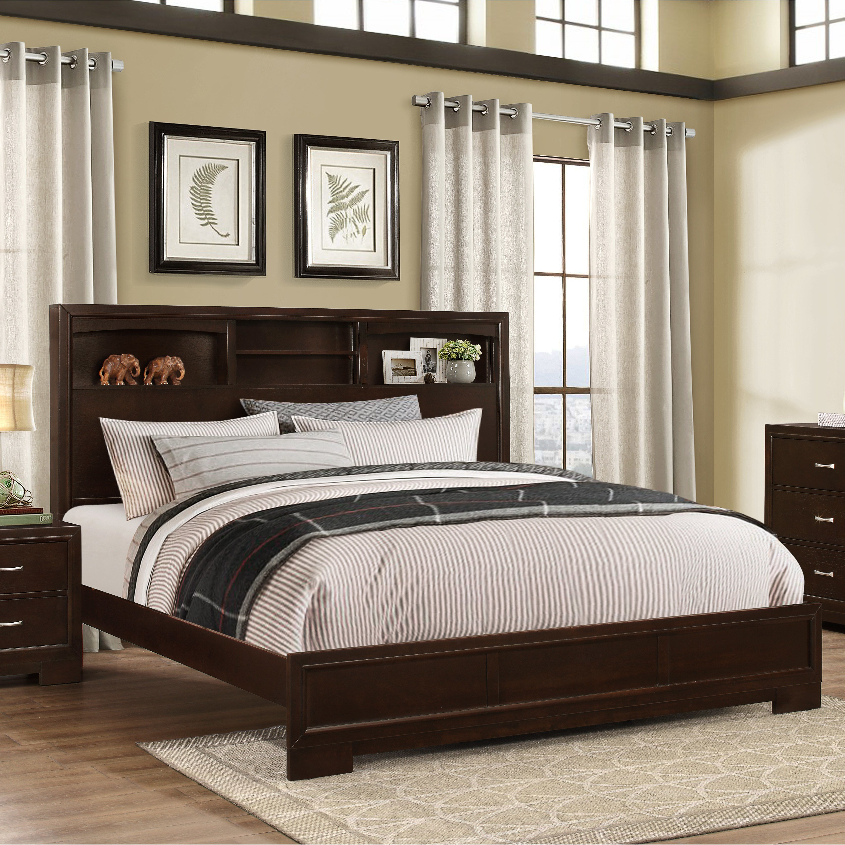 Best Roundhill Furniture Montana Panel 5 Piece Bedroom Set Reviews Wayfair With Pictures