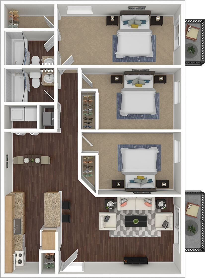 Best Floorplans Silvertree Communities 2 3 Bedroom Apartment Townhome With Pictures