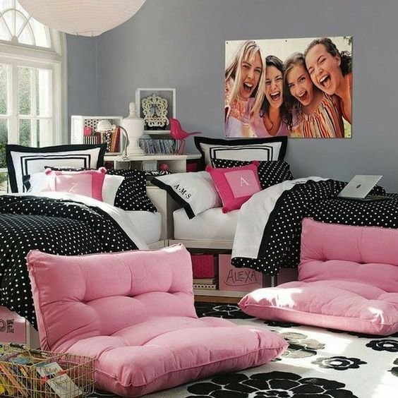 Best T**N Room Decor Black White Pink And Bedroom Ideas On With Pictures