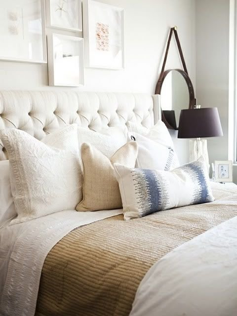 Best Plush Pillows And An Upholstered Headboard Guest Rooms With Pictures