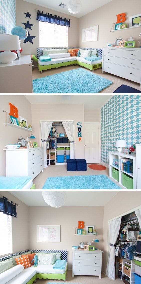 Best Toddler Boys Room Diy Budget Makeover Boys Houndstooth With Pictures