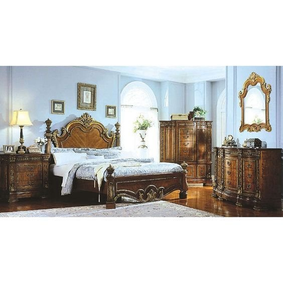 Best Pulaski Royale Low Poster Bed Bedroom Set With Stone Top With Pictures
