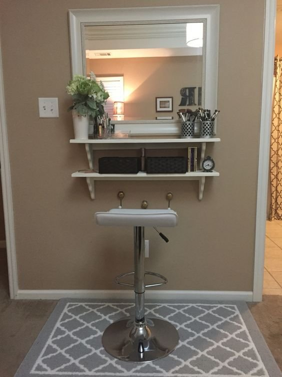 Best Diy Make Up Vanity For Cheap Mirror From Tj Max And Wood With Pictures