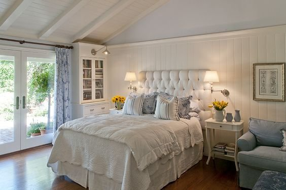 Best Master Bedroom Clean Blue White English Country Style With Pictures