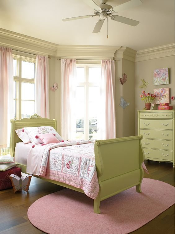 Best Pretty Pink And Green Butterfly Room For A Little Girl These Are Already The Colours Of Her With Pictures