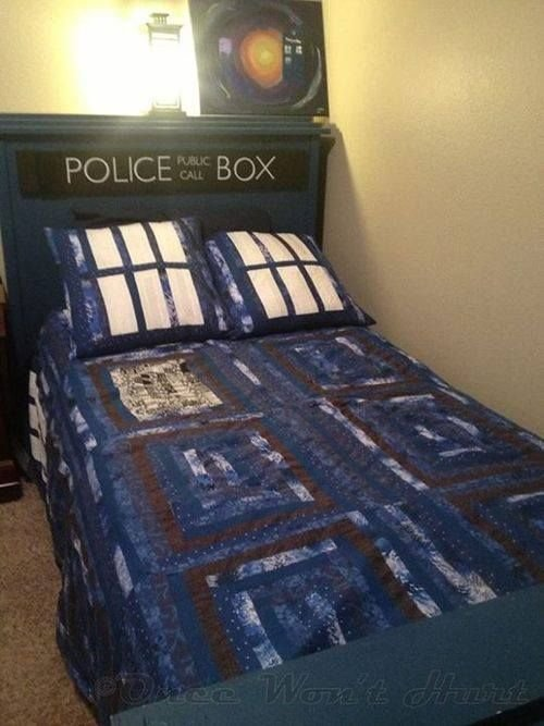 Best Dr Who Police Box Bed Bedding Bedroom Decor Home With Pictures