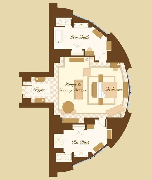 Best Las Vegas Suite Bellagio Cypress Suite Floorplan I With Pictures