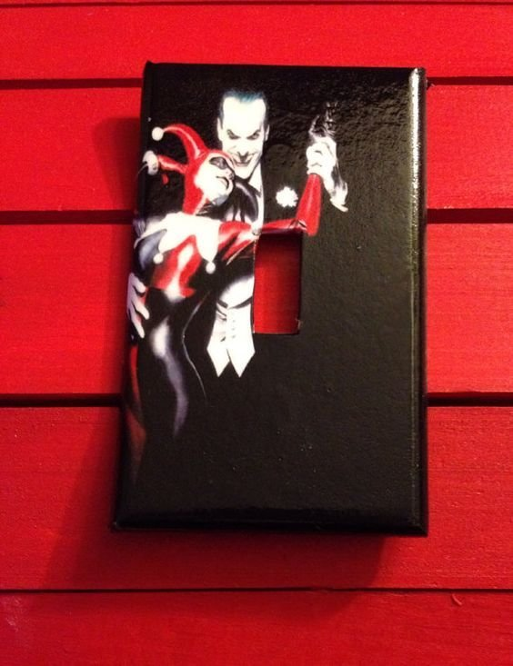 Best Light Switch Cover Harley Quinn And Joker Light Switch With Pictures