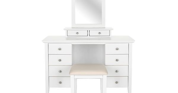 Best Pippa Dressing Table Stool And Mirror Bedroom Furniture With Pictures