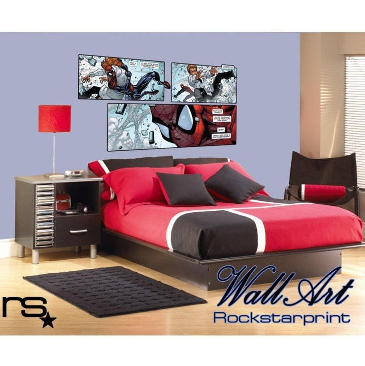 Best Large Comic Book Style Theme Wall Art Sticker Decal Ebay Bedroom Decor Ideas For T**N Boys With Pictures