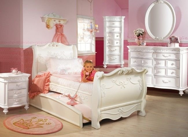 Best Disney Princess 5 Piece Full Sleigh Bed Bedroom Set With Pictures