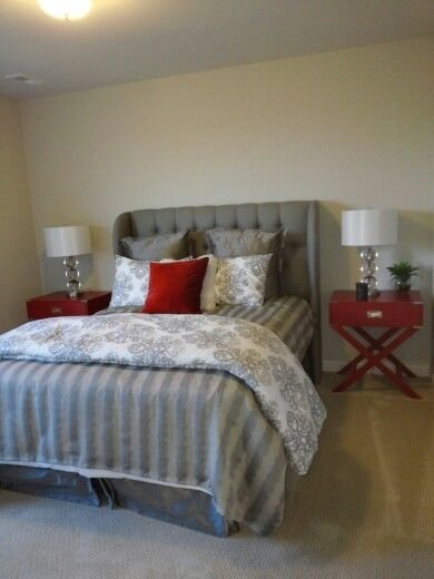 Best 10 Best Ideas About Grey Red Bedrooms On Pinterest Red With Pictures