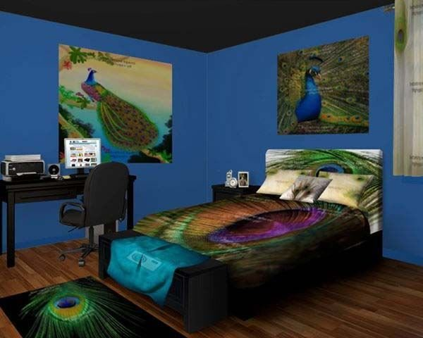 Best Peacock Bedroom Peacock Bedroom Decor For The Extravagant Feelings Redecoration Ideas With Pictures