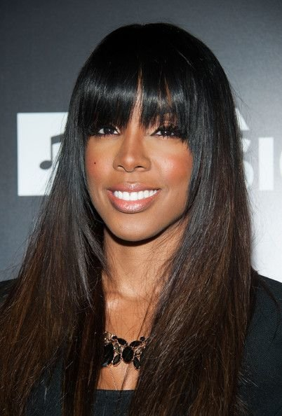 Free Kelly Rowland Full Sew In Weave With Fringe Hair Styles Wallpaper