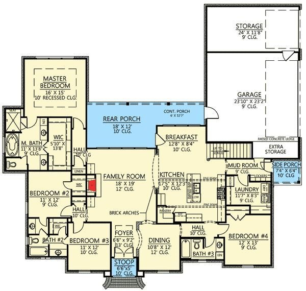 Best Plan 56377Sm 4 Bed Acadian House Plan With Bonus Room With Pictures