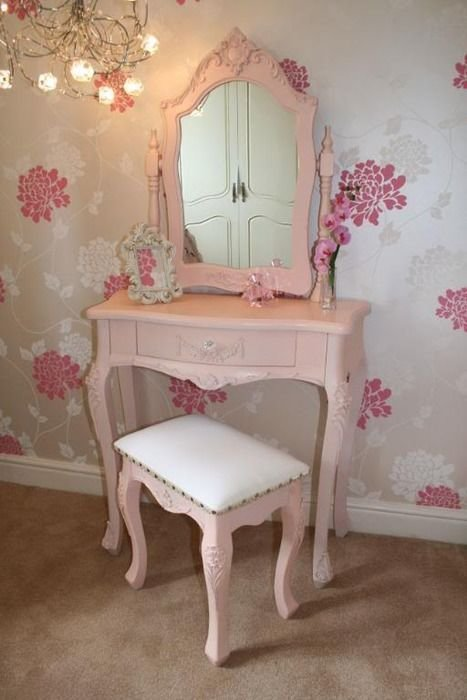 Best Shabby Chic Dressing Table With Matching Bench All In With Pictures