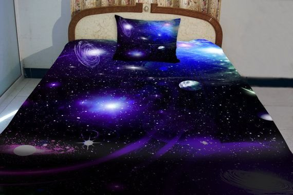 Best Galaxy Bedding Set Two Sides Printing Galaxy Twin Quilt Cover Galaxy Bed Sheets With Two With Pictures