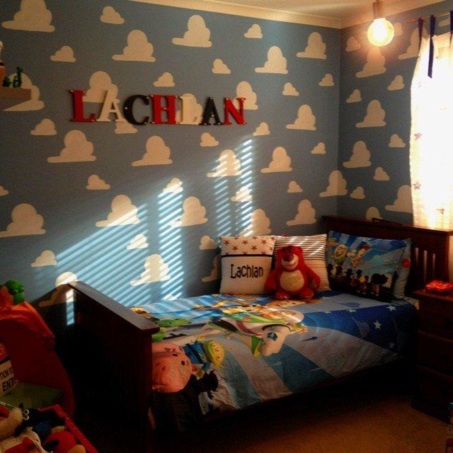 Best Hand Painted Toy Story Clouds For My Sons Bedroom Kids With Pictures