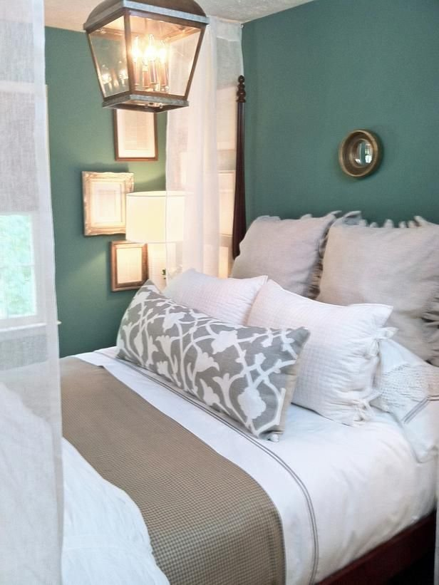 Best Neutral Bedding Tones And Teal Walls Love The Wall Color With Pictures