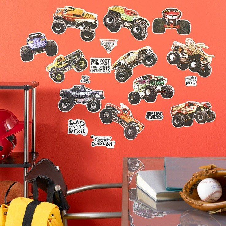 Best Monster Jam Removable Wall Decorations 43472 Boys With Pictures