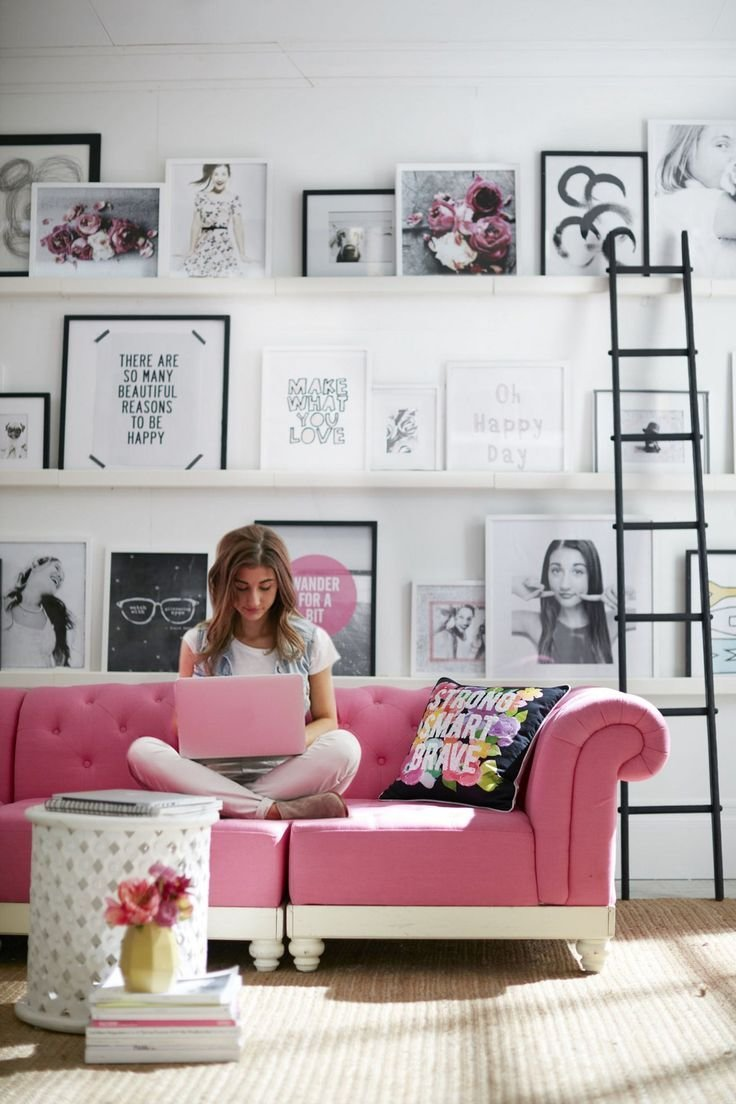 Best 20 Young Woman Bedroom Ideas On Pinterest Purple Office White Fluffy Rug And Salmon Bedroom With Pictures