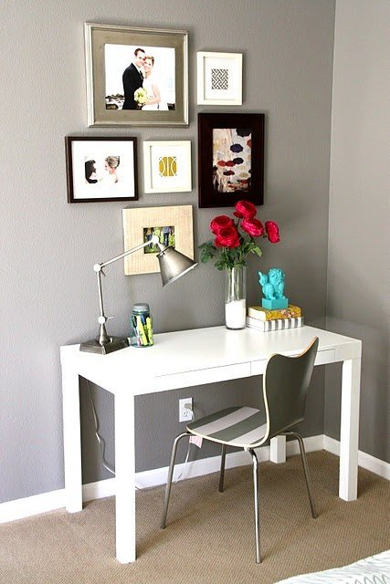 Best Cute Desk Setup Exactly What I Am Aiming For Livingroom With Pictures