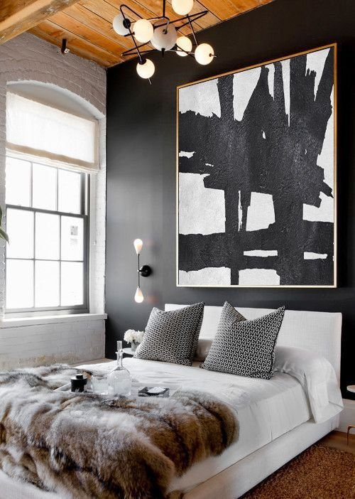 Best Original Art Large Abstract Painting Acrylic Painting Canvas Art Black And White Minimalst With Pictures