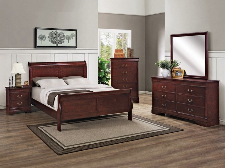 Best Louis Phillip Cherry Finish 6 Pc Bedroom Set Kimbrell S With Pictures