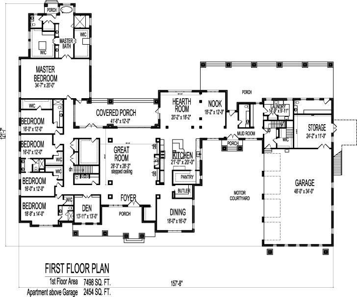 Best 6 Bedroom Bungalow 10000 Sf 1 Storey House Plans Sioux City Iowa Ia Waterloo Kenosha Wisconsin With Pictures