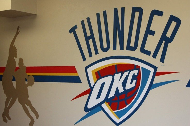 Best And The Thunder Rolls Party On In Our Okc Thunder Room With Pictures