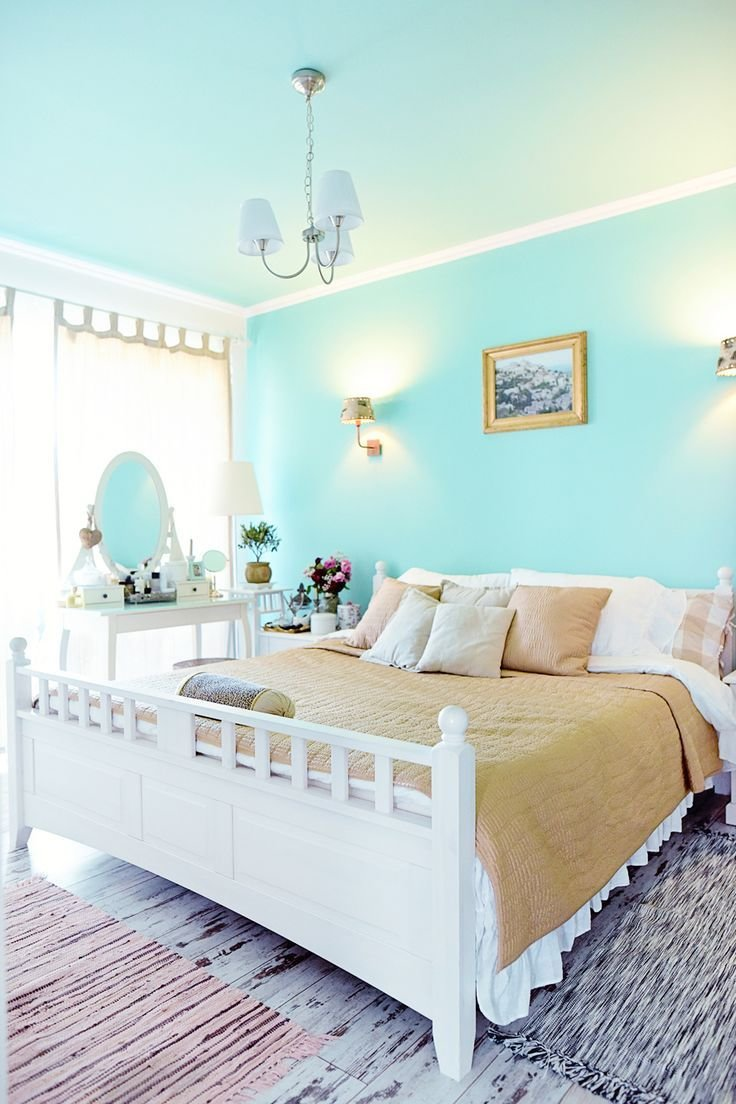 Best Vintage Bedroom Mint Green And White Home Decor Gold With Pictures