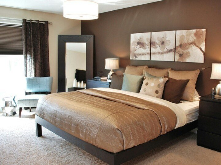 Best Brown Accent Wall Cream Other Walls Decor Pinterest With Pictures