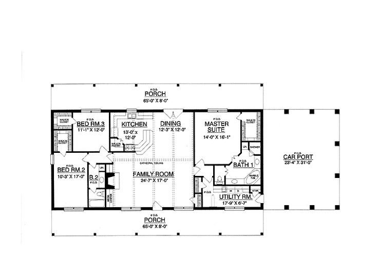 Best 30X50 Rectangle House Plans Expansive One Story I Would With Pictures