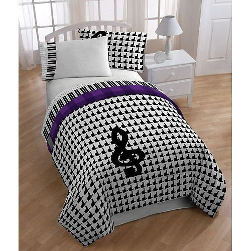 Best Music Note Bed In A Bag Glee Mercedes Bedding Comforter With Pictures