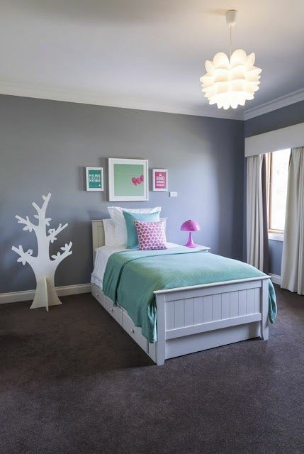 Best Girl S Bedroom Mint White Pink Grey Since We Dont With Pictures