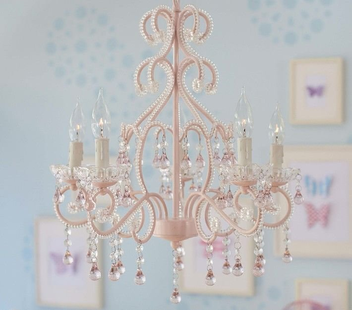 Best A Grand Chandelier Bedecked In Beads And Glass Crystals With Pictures