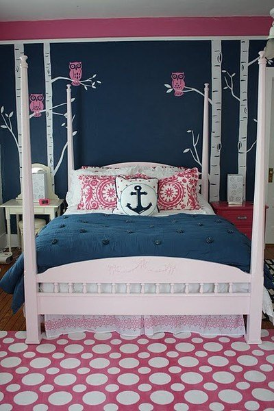 Best Navy Pink Bedroom Gorg S Choice Replace Owls With With Pictures